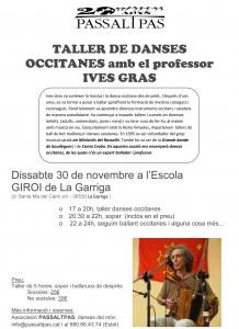 TALLER DE DANSES OCCITANES amb el professor IVES GRAS